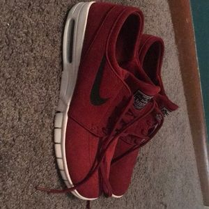 Red Stefan Janoski suede shoes